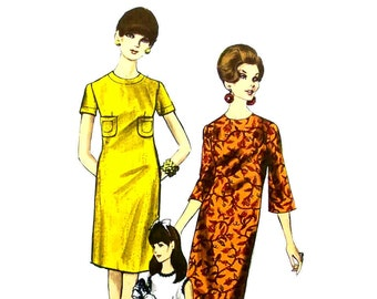 Vintage 1960s Sheath Dress Pattern Vogue 7039 Size 10 Bust 31