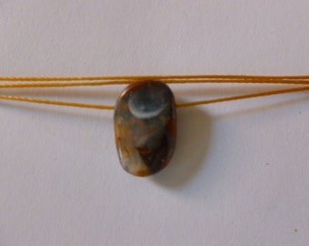 Boulder Opal Necklace- Grandmother Crescent  moon