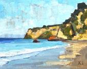 Santa Barbara Beach Landscape Painting - Leadbetter Cliffs