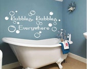 Bubbles everywhere-  kids children bath decals art  Bathroom-Vinyl Lettering wall  art words graphics  decal Home decor itswritteninvinyl