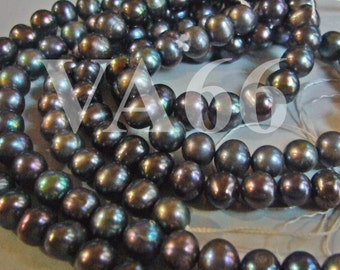 DIY 15 Inches Fresh Water Pearls Round Pearl Beads Disco Color 6mm 7mm D167 Loose Pearls Jewelry Making Findings Craft