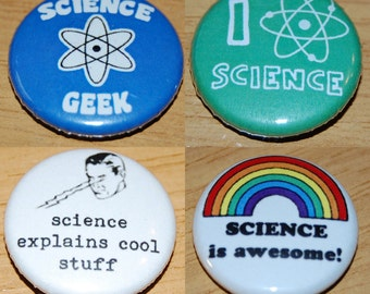 Science Badge 25mm / 1 inch Geek Nerd