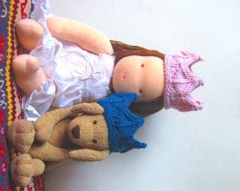 Lace Knit Crown Doll Headband, Dress Up, Pretend Play, Birthday, Doll Crown, Teddy Bear Crown
