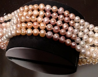 Vintage Pearl Bracelet Wedding Genuine Cultured