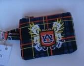 Auburn University Fabric Zipper Pouch with key ring