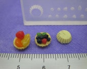 Miniature fruit and tart silicone mold new design