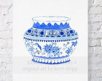 Ming in Indigo Print - as seen in Martha Stewart Living April Edition