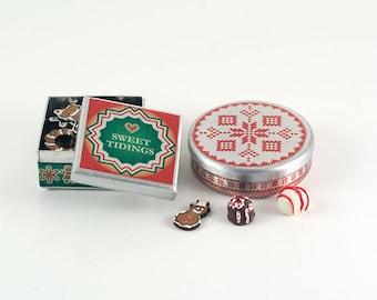 Miniature Christmas Cookie Tins Kit