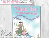 Mary Poppins Party Printable Thank You Cards By Cutie Putti Paperie