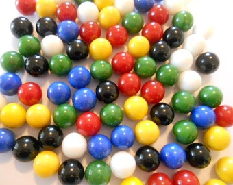 60 Glass Marbles Chinese Checkers Marbles
