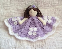 Sophia the First Inspired Lovey/ Security Blanket/ Stuffed Toy/ Plush Toy Doll/ Soft Toy Doll/ Amigurumi Doll/ Baby Doll-  MADE TO ORDER