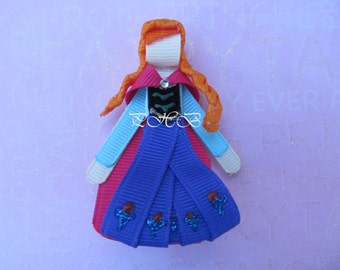 """Beautiful """"Princess Anna from Frozen"""" Princess Hair Clip-- Inspired by Disney-- Birthdays, Baby Showers, Party favor"""