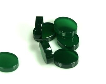 4 pcs 8x10 mm dyed green agate coin cabochon thickness 3,3 mm