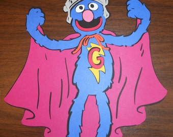 Sesame Street Insipred Die Cuts - The Count – Bert – Super Grover - Oscar Inspired Die Cut - Your Choice of One