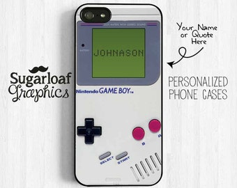 Nintendo GameBoy iPhone 7 6 Case Personalized First Name Phone Case, iPhone 6 plus 5s 5c 5 4s, Samsung Galaxy S5 S4 S6, Note 3 4 Case UL23
