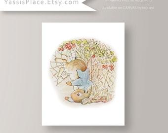 Peter Rabbit Nursery - Decor Baby Boy Wall Art Girl Decor Kids wall art Storybook Bedroom Story Tale Playroom