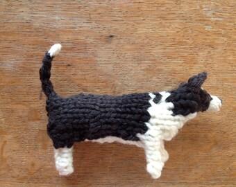 Large Cardigan Welsh Corgi knitted dog