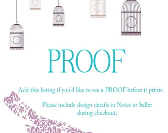 Design PROOF- Custom PROOF- Lovey Dovey Creations