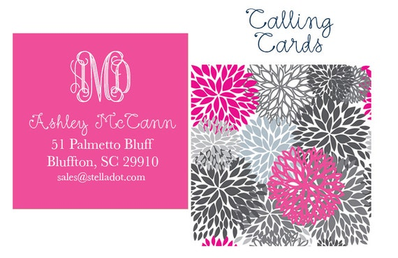 Personalized Calling Cards Etsy Business by