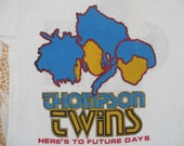 THOMPSON TWINS 1984 tour T SHIRT