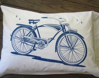 Bike Pillowcase Set/Maynard's Mousetrap/100% Cotton/cruiser/Bicycle/Schwinn/Pillows