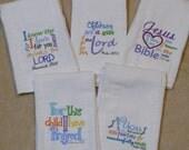 Bible Verses Burp Cloth - Set 1