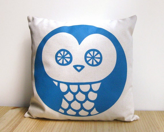 Owl Throw Pillow Etsy : Accent pillow Owl Throw Pillow Insert included by olula on Etsy