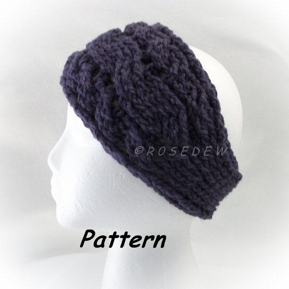 Crochet Headband Pattern Cable : Instant Download to PDF Crochet PATTERN: Three Cables Headband