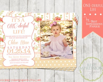 ONEderful Life - A Customizable Birthday Party Invitation