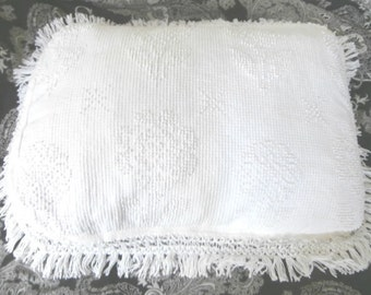 Vintage Fringed Large Pillowcase