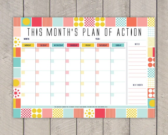 Printable Planner Pack Daily Planner Weekly Planner Monthly
