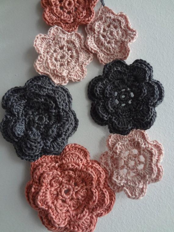 Crochet Pattern Irish Roses Necklace Crochet Flower Pattern