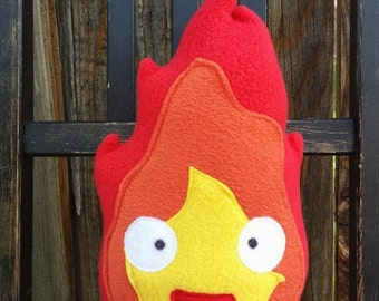 Calcifer, Pillow, plush, cushion, gift, Howl's moving castle