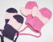 Baby or toddler mittens either with or without thumbs and connecting strings.  Choose colors and size.