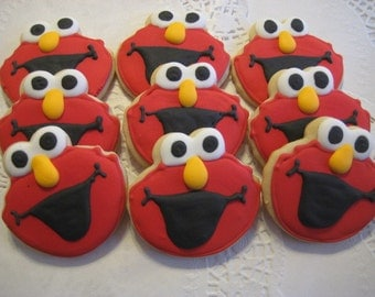 Elmo cookie party favors