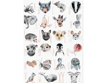 ABC animal poster in German