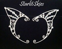 Wire Fairy Elf Ears with Swarovski Crystals