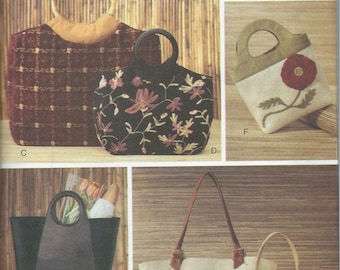 Tote Bags, Handbags and Accessories Pattern , Vogue Sewing Pattern No. 7755