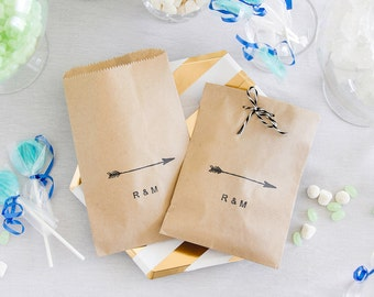 Arrow Favor Bags - Paper Candy Bar Bags - Wedding Favor Bags