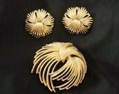 Monet Brooch and Earrings