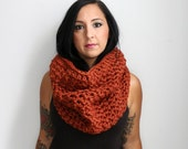 The Priscilla Textured Cowl Neck Cozy, Crochet Oversized Cowl, Circle Scarf