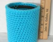 Turquoise Crochet Cozy