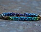 Niobium Elements of Earth Byzantine Bracelet