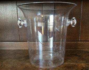 Vintage French Champagne plastic ice bucket circa 1980's / English Shop