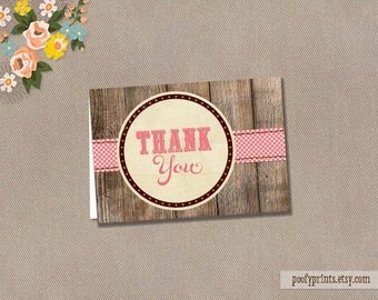 Rustic Baby Boy Thank You Note - INSTANT DOWNLOAD - Jamie Collection