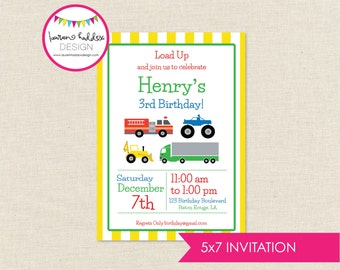 Transportation Birthday Invitation, Transportation Birthday, Transportation Printables, Transportation Decorations, Lauren Haddox Designs