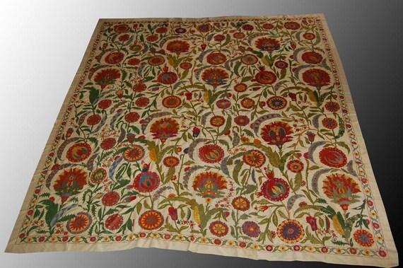 Antique designe SILK suzani hand made embroidery craft home decor BUKHARA region