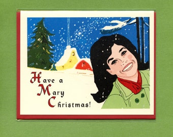 A MARY CHRISTMAS - Mary Tyler Moore - Funny Christmas Card - Christmas Card - Pop Culture Card - Christmas Card - Christmas - Item# X004