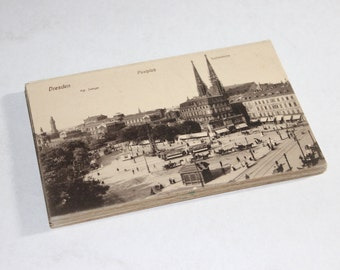 25 Vintage Dresden Germany Black and White Unused Postcards - Travel Themed Wedding Guestbook