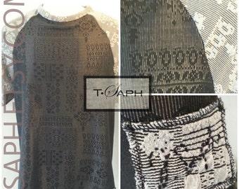 Black Grey Mens Shirt Lance Tee by T.Saph